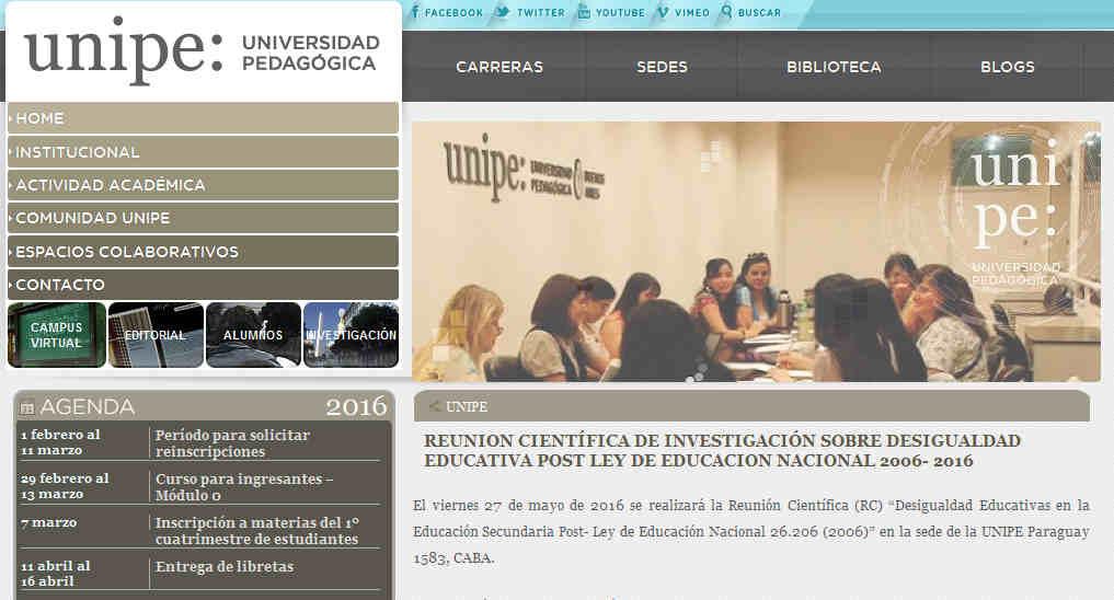 Reunion científica de investigación sobre Desigualdad Educativa Post Ley de Educacion Nacional 2006- 2016